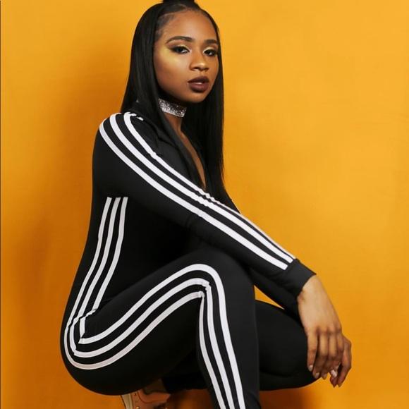 d5121f11d09 ❗️SALE❗️ Black Striped Jumpsuit Boutique